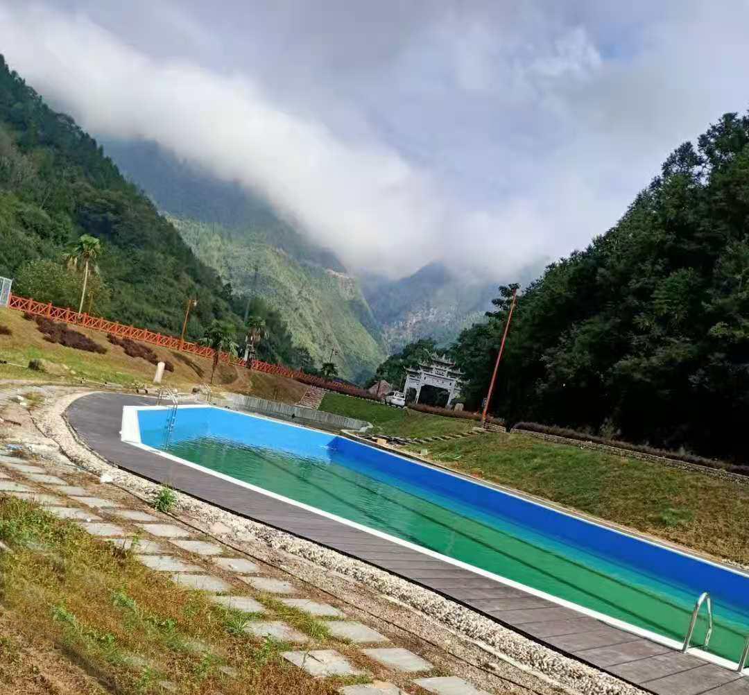 丽水市景宁县秋炉乡户外异型泳池—中广泳池